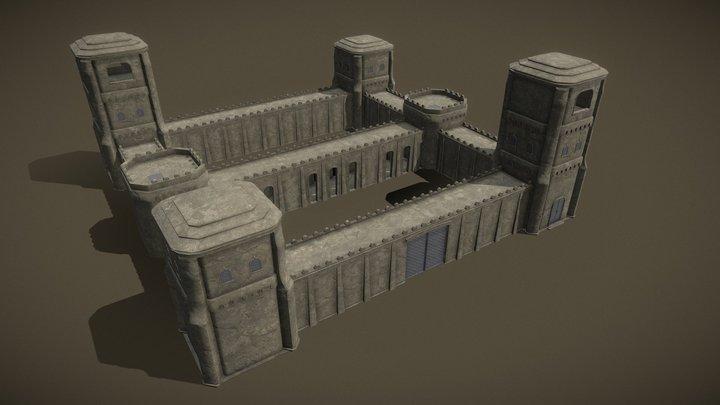 modular fortress, Free 3D Model