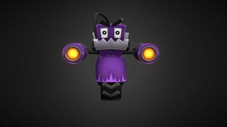 Toon Robot 3D Model
