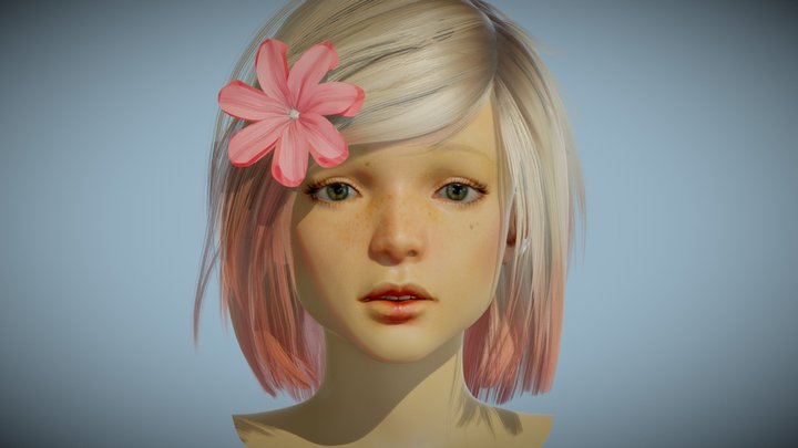 Subsurface Scattering (SSS) Demo: Lara 3D Model