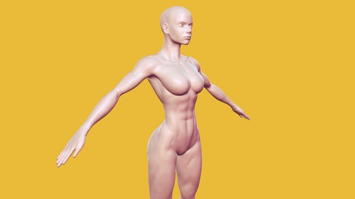 Fit Female Base Mesh 3D Model
