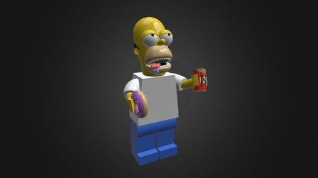 LEGO HOMER SIMPSON 3D Model