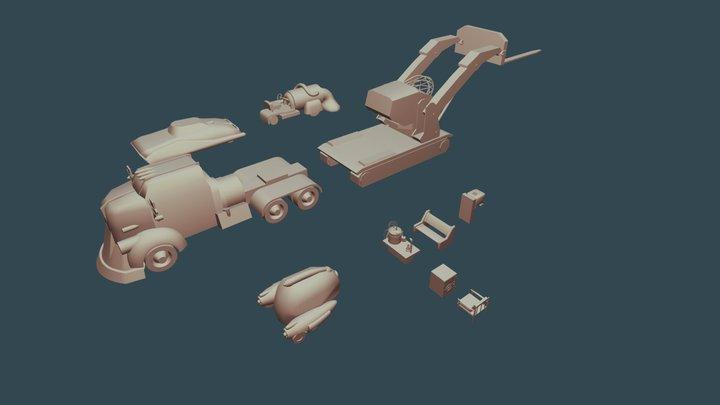 Fallout 4 items - Draft 3D Model