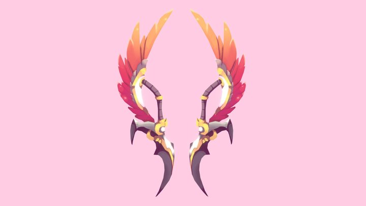 Twin-winged Angelblades 3D Model
