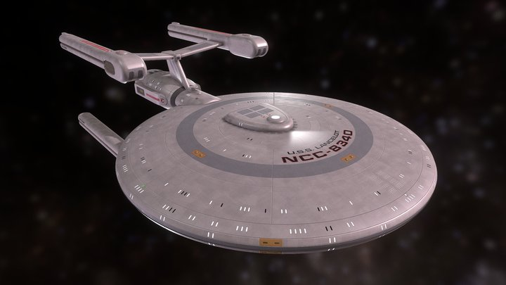 Lancelot-Class Light Cruiser 3D Model