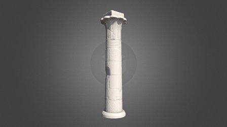Egypt Column WIP (748 triangles) 3D Model