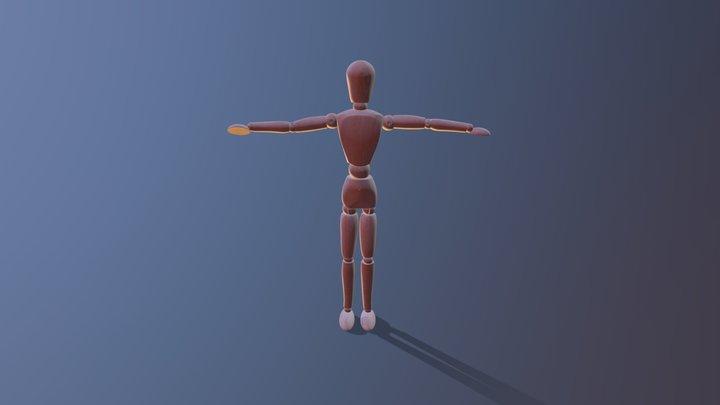 Mannequin dances ballet 3D Model