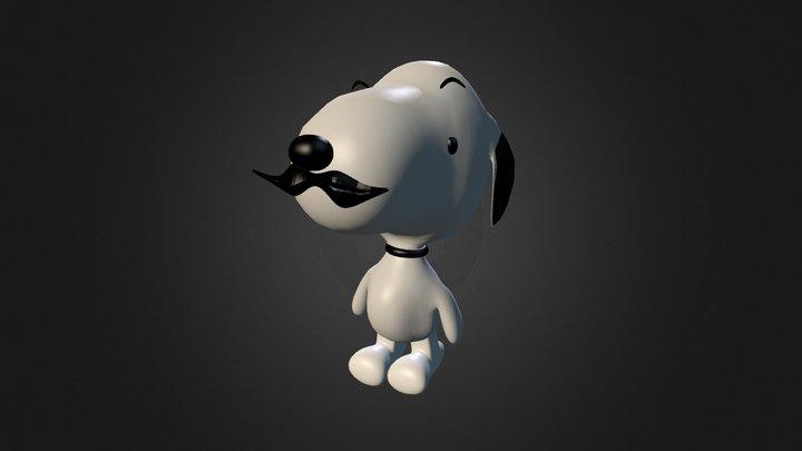 Snopy Con Bigotes 3D Model