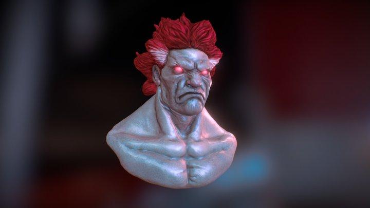 Akuma bust - fan art 3D Model