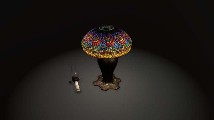 2018.281 Peacock Table Lamp 3D Model