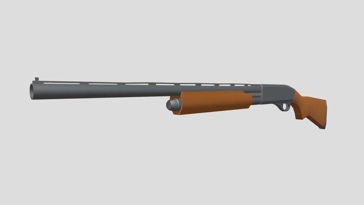 Remington 870 Low Poly 3D Model
