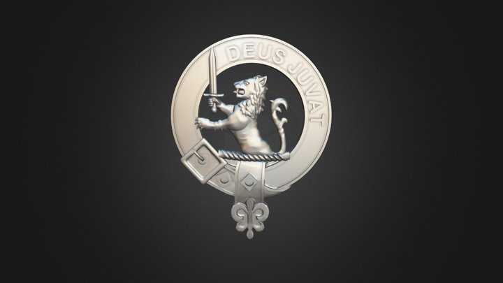 Clan MacDuff Crest 3D Model