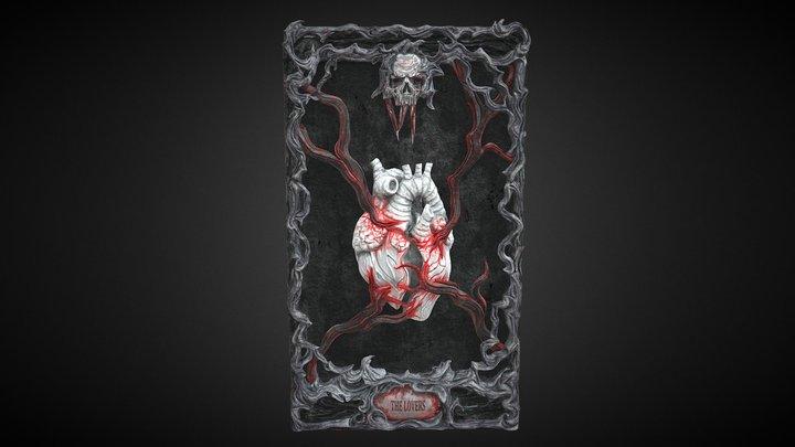 Tarot Card - The Lovers 3D Model
