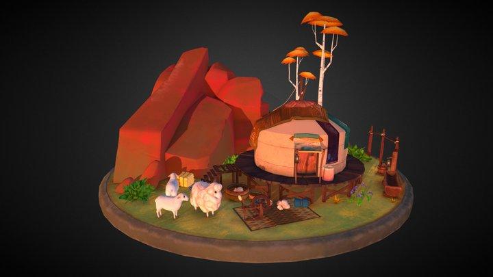Naraa's Village 3D Model