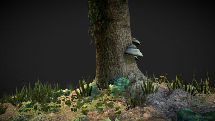 Tree trunk low poly test 004 3D Model
