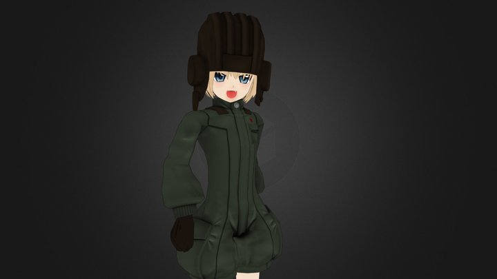 Katyusha Girl Und Panzer 3D Model