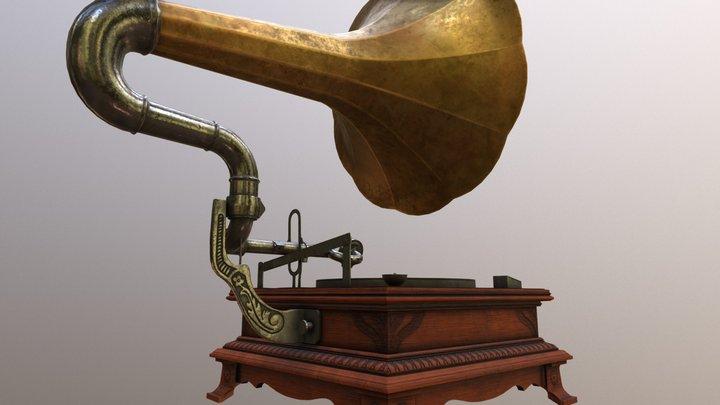 Gramophone WIP #2 3D Model
