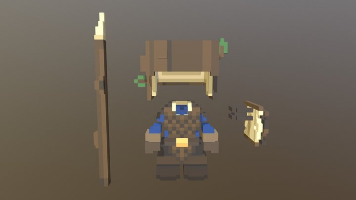 [Primitive Armory] Bark Set 3D Model