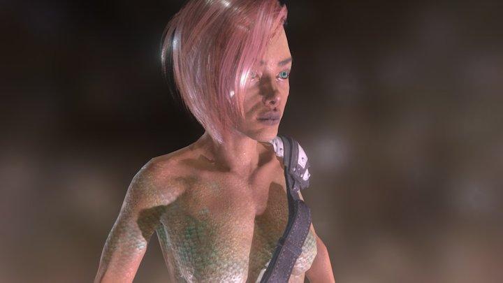 Mermaid Bust 3D Model