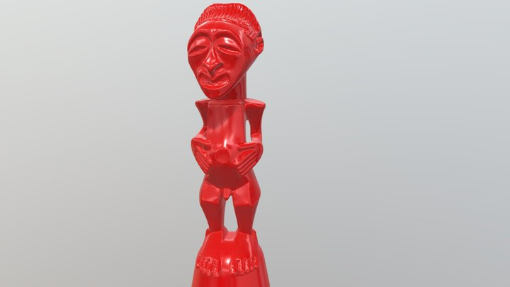 07 African Sculpture Right Reduced 3D Model