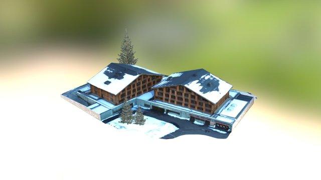 Hotel Héliopic Chamonix Mont Blanc France 3D Model
