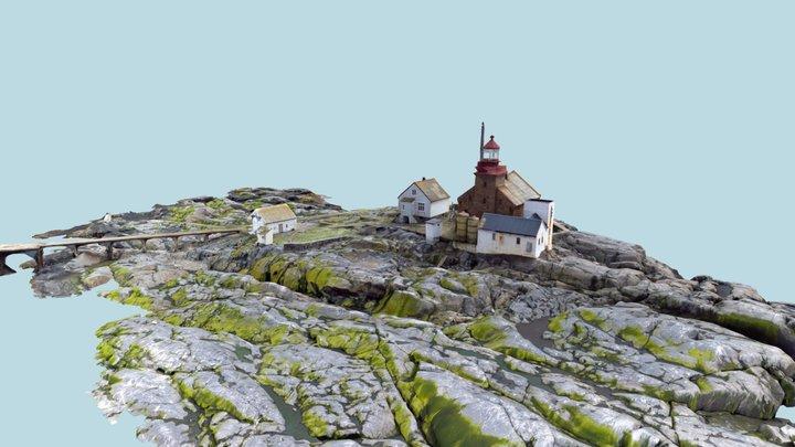 Scan Old Lighthouse on an Island - Torbjørnskjær 3D Model