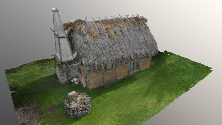 Bermuda 17th c Settler House 3D Model