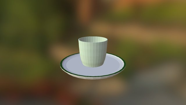 Candle on a plate 3D Model
