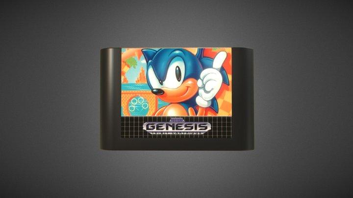 Sega Genesis Game Cartridge 3D Model
