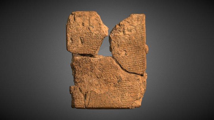 Epic of Gilgamesh tablet 3D Model