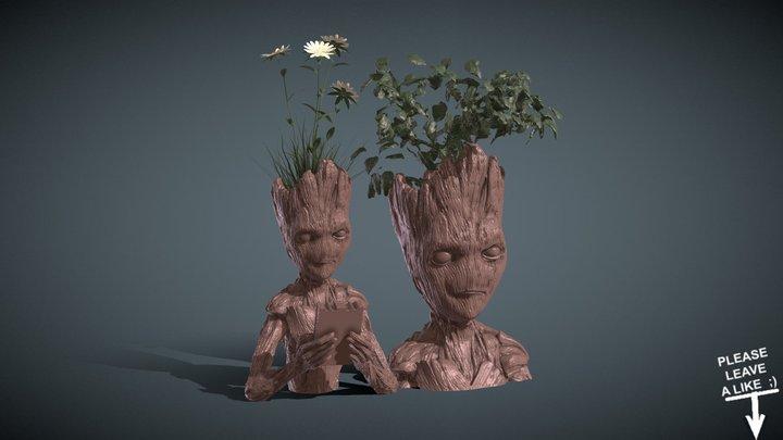 INSPIRITED TEEN GROOT VASES 3D Model
