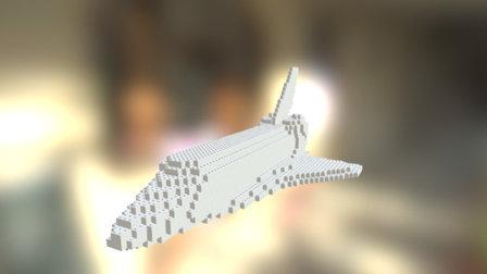 Brick Space Shuttle 3D Model
