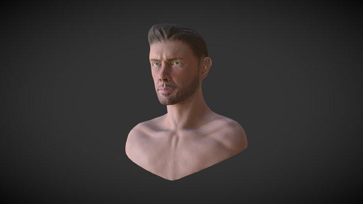 Bust of Jensen Ackles 3D Model