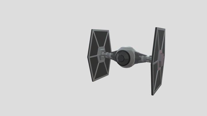 21 Tie Fighter druft 3D Model