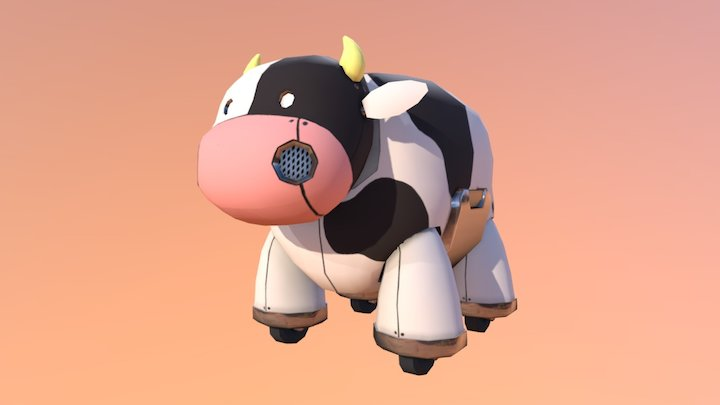 Robot Cow 3D Model