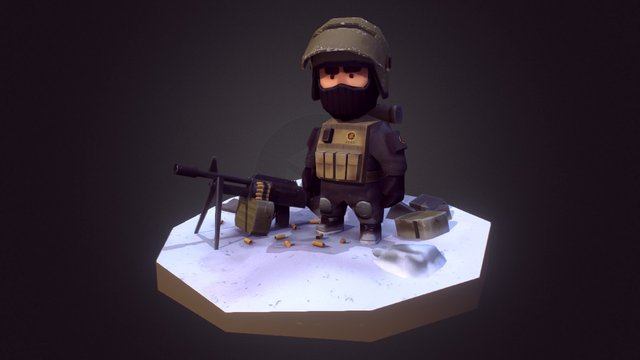 Gunner 3D Model