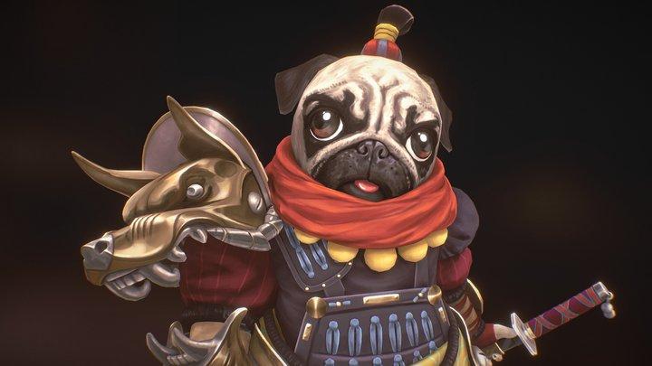 Samurai Pug 3D Model