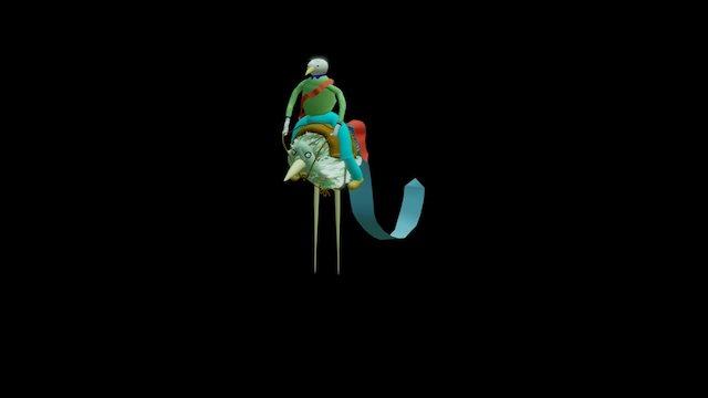 riding birds 3D Model