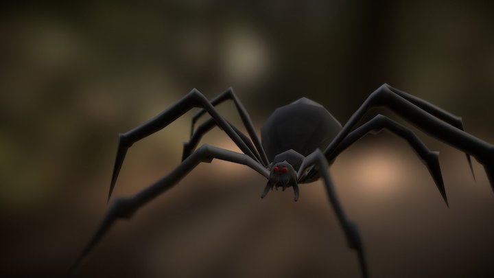 Giant Spider Lunge Animation (WIP) 3D Model