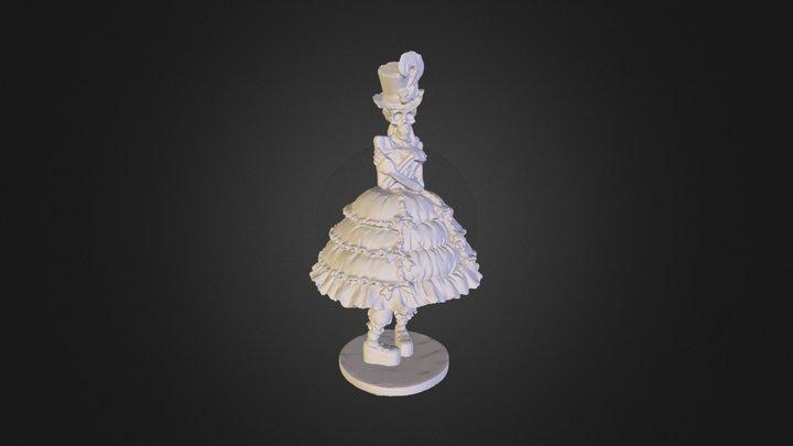Lady Skeleton 3D Model