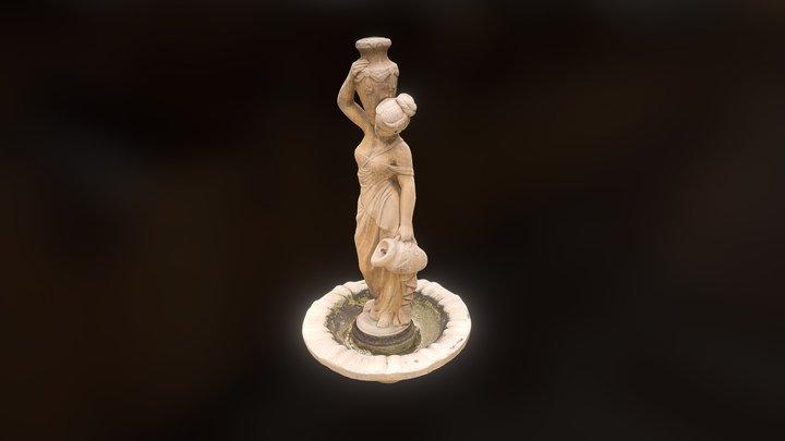 Fountain statue v1 3D Model