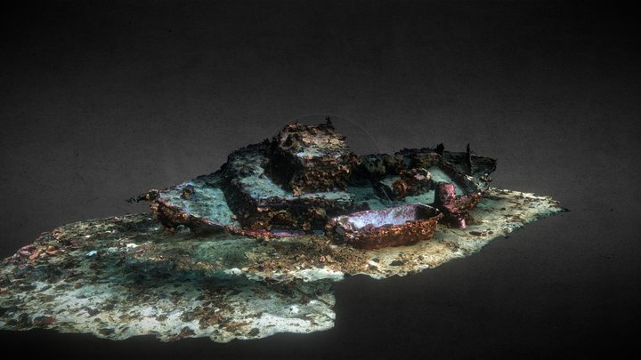 Small wreck on the local club reef 3D Model