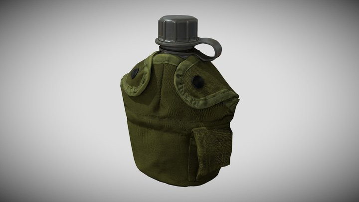 US Military Canteen 3D Model