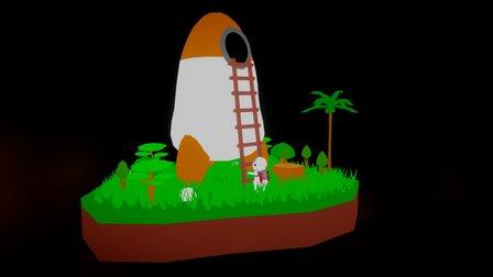 Tiny Space Adventure 3D Model