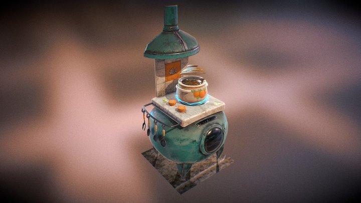 Mireys Cute Gas Stove 3D Model