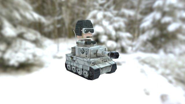 Q TANK 3D Model