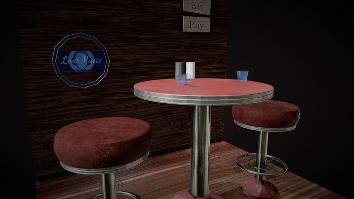 Bar Scene 3D Model