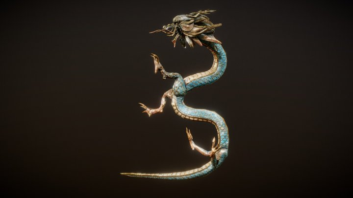 Korean Ornamental Dragon 3D Model