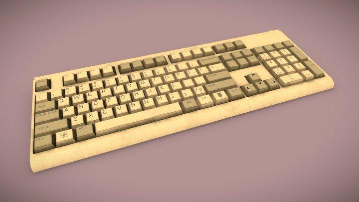 Keyboard - Classic IBM Design 3D Model
