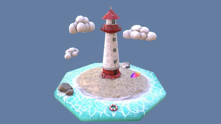 Lighthouse diorama 3D Model