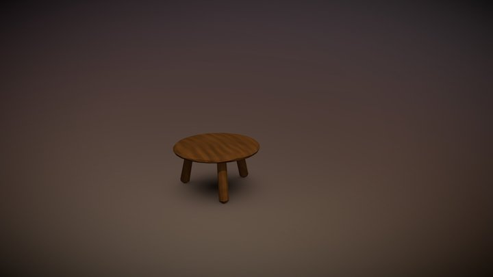 Low poly chair 3D Model